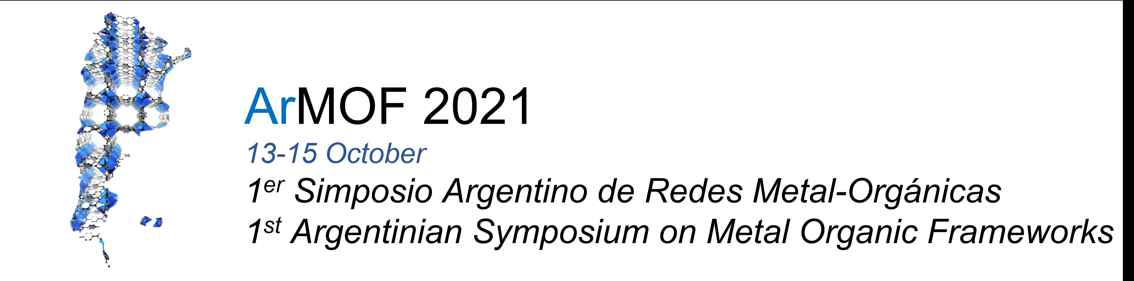 1er. Simposio Argentino de MOFs (Metal Organic Frameworks) logo